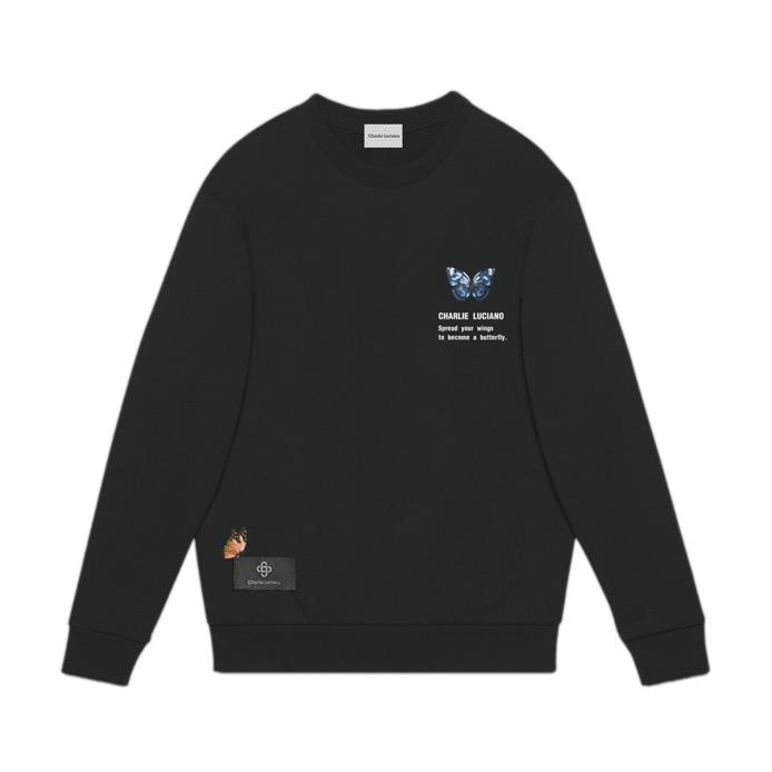 CHARLIE LUCIANO Butterfly Tag Sweater | MADA IN CHINA