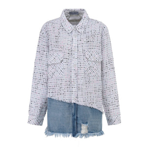 ANDREA MARTIN Candy Joint Denim Shirt | MADA IN CHINA