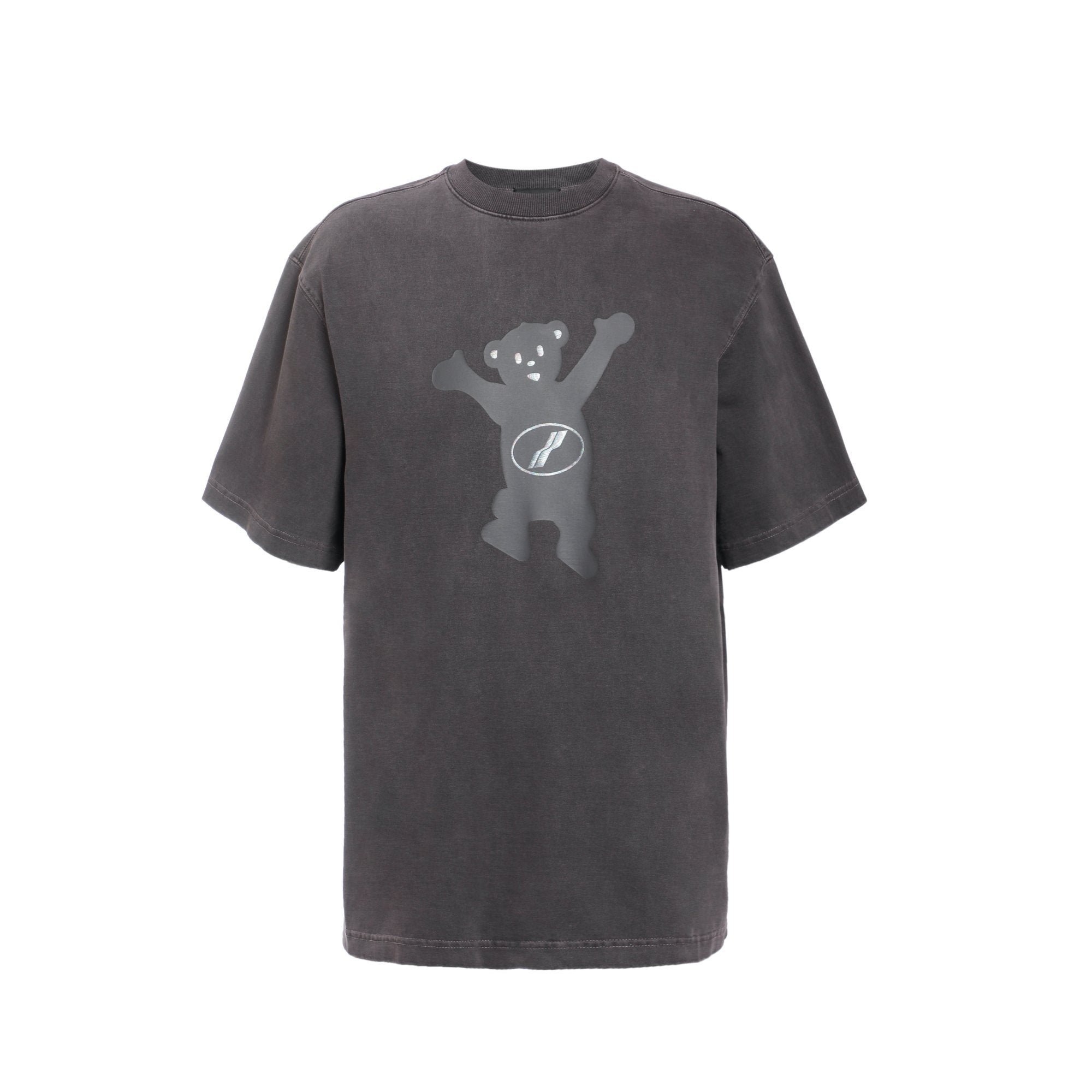 WE11DONE Charcoal Teddy T-Shirt | MADA IN CHINA
