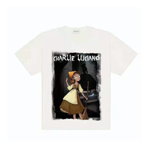 CHARLIE LUCIANO Cinderella Print Tee White | MADA IN CHINA