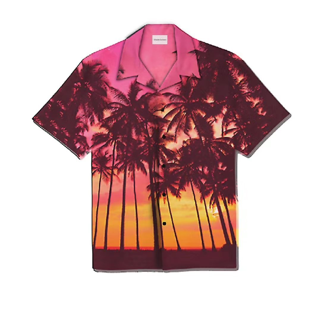 CHARLIE LUCIANO Coconut Palm Short-Sleeve Shirt | MADA IN CHINA