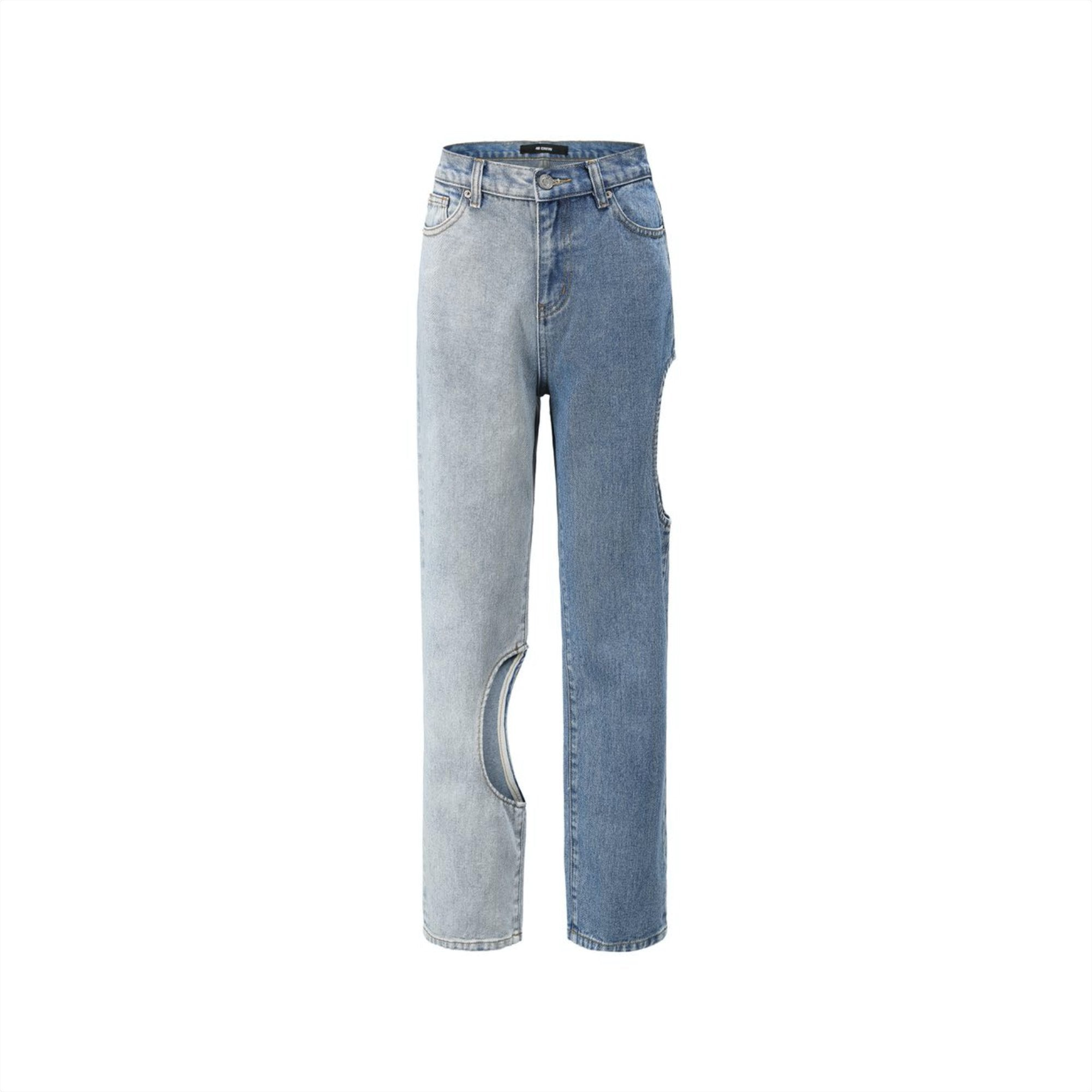 40 CREW Colorblock Cut-Out Jeans | MADA IN CHINA