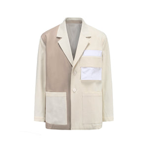 STAFF ONLY Colorblock Panelled Blazer Jacket | MADA IN CHINA