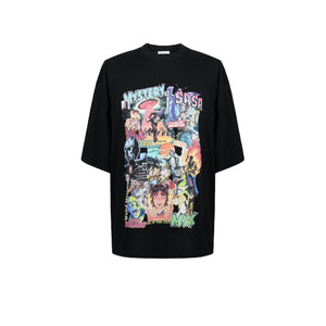 SASA MAX Colorful Graffiti Tee Black | MADA IN CHINA