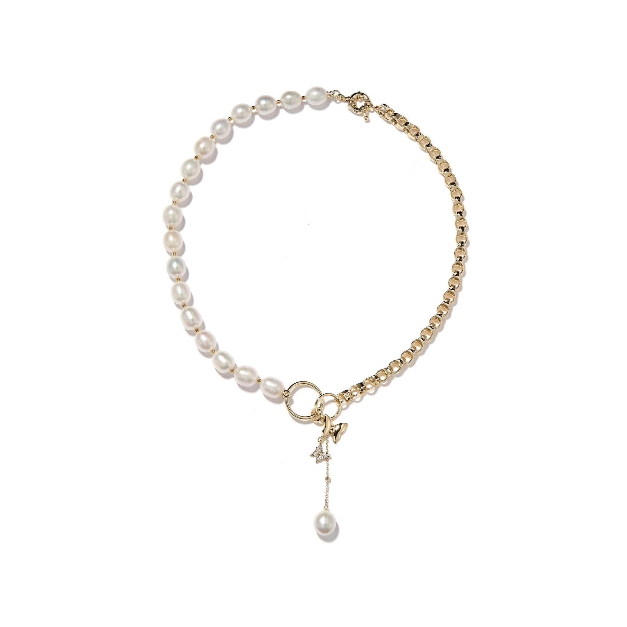 LOST IN ECHO Comma Pearl Necklace Gold | MADA IN CHINA