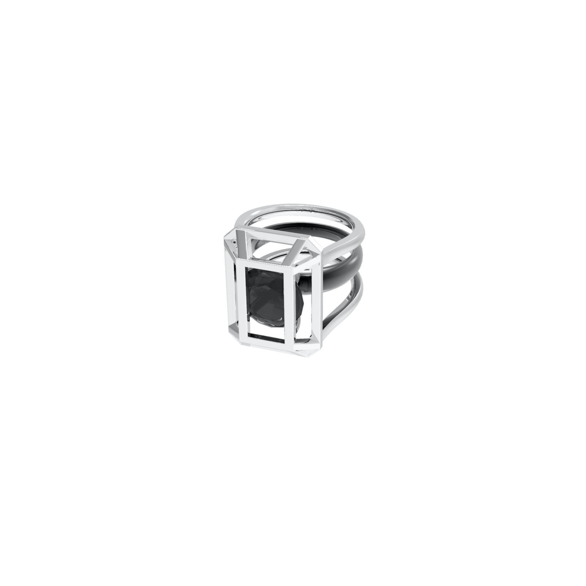 51 E JOHN Constraint Collection Ring Black | MADA IN CHINA