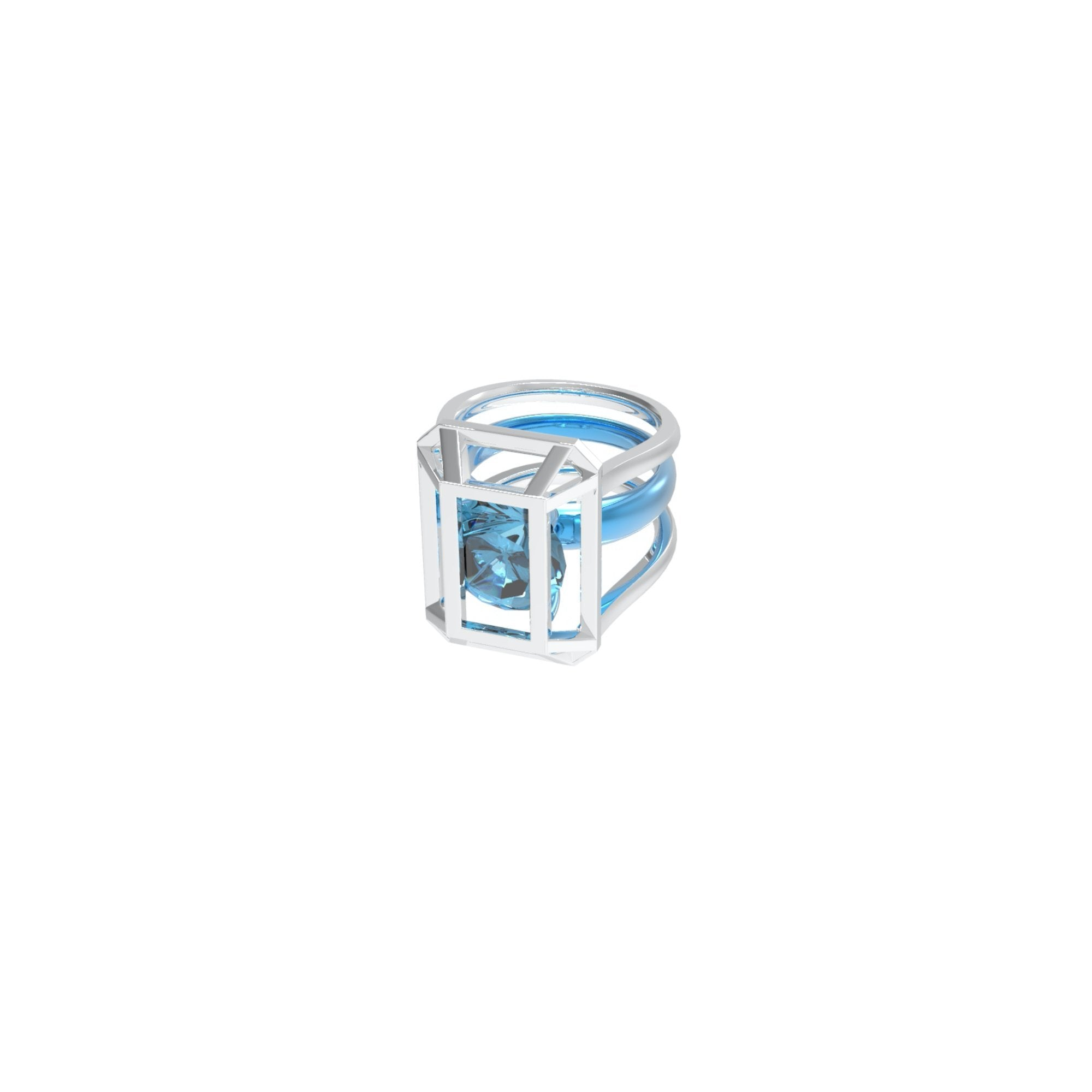 51 E JOHN Constraint Collection Ring Blue | MADA IN CHINA