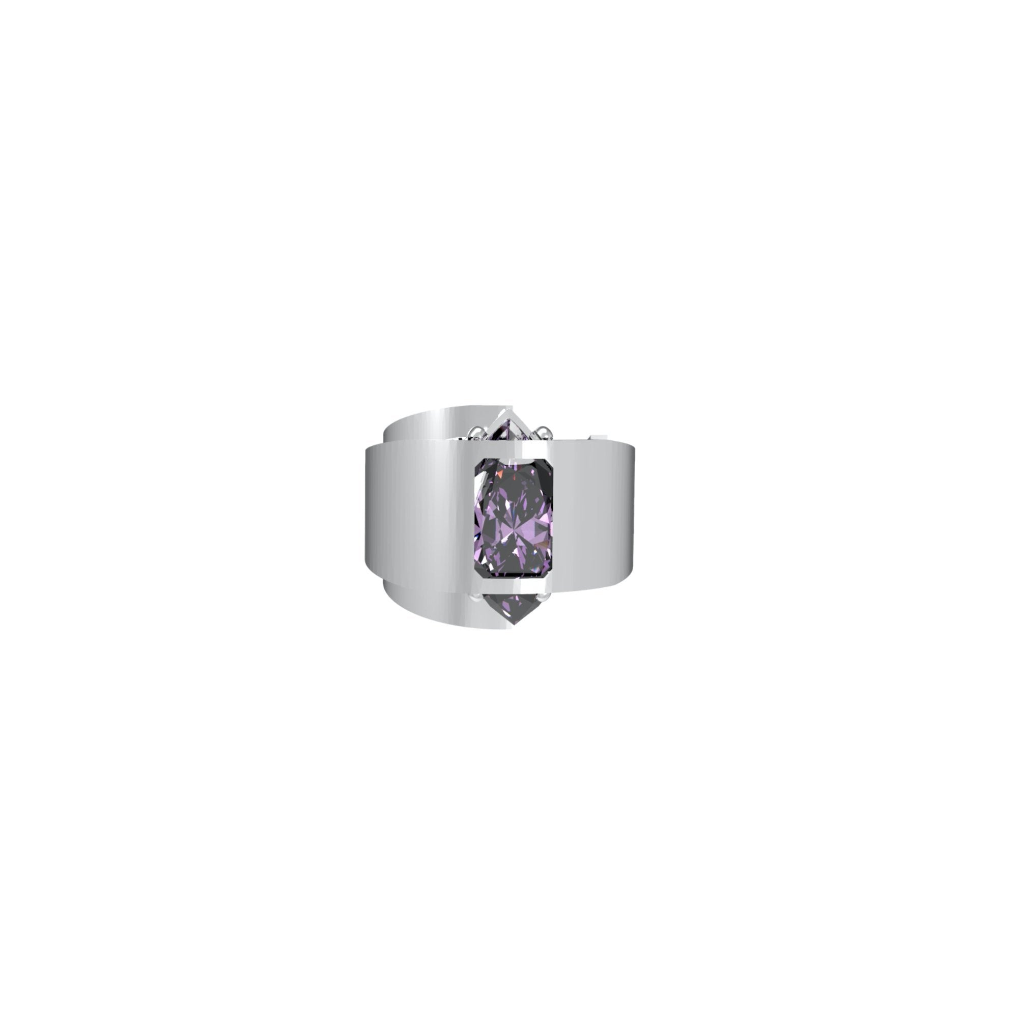 51 E JOHN Constraint Collection Ring Set Purple | MADA IN CHINA