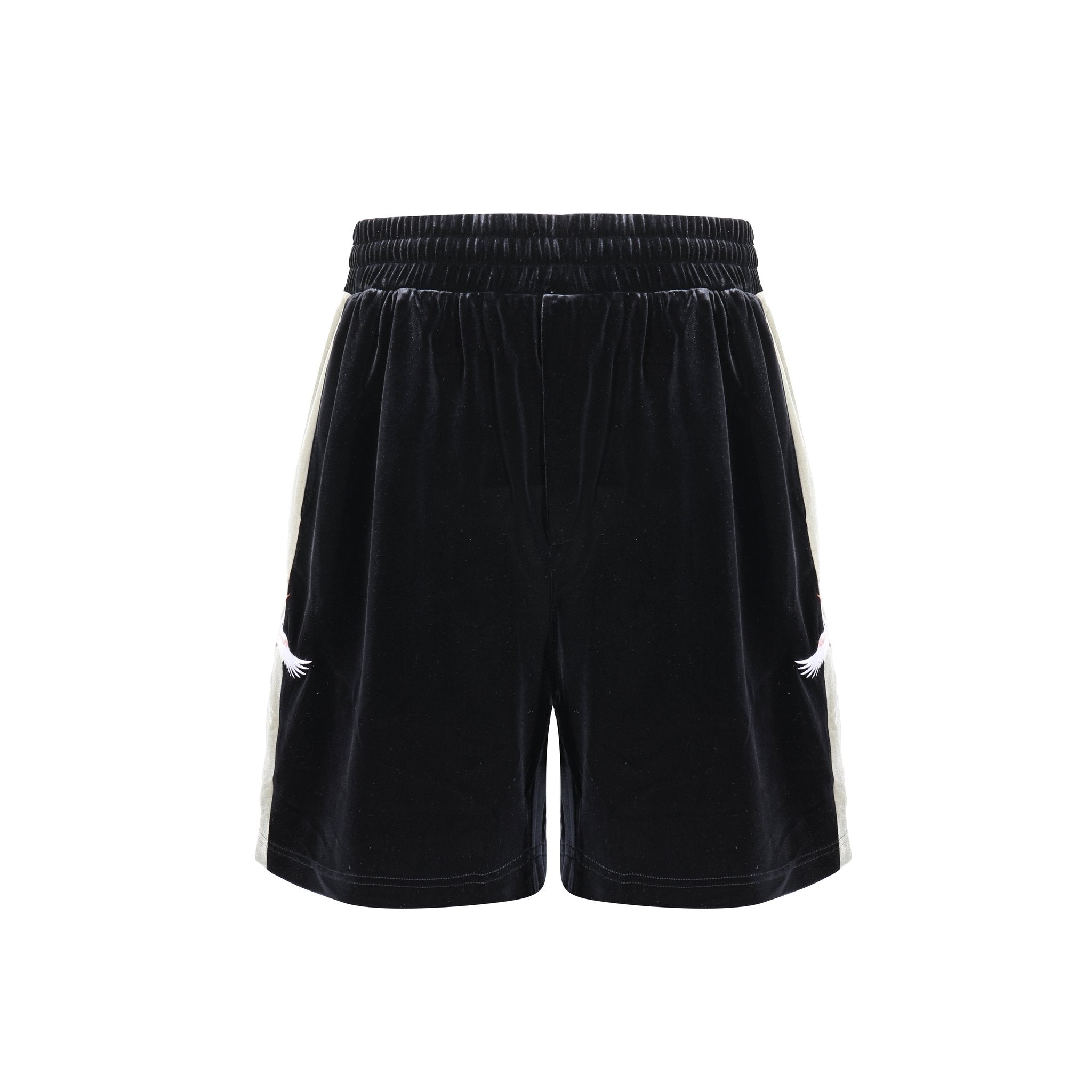 UMBERT MATTEO Crane Velvet Shorts Black | MADA IN CHINA