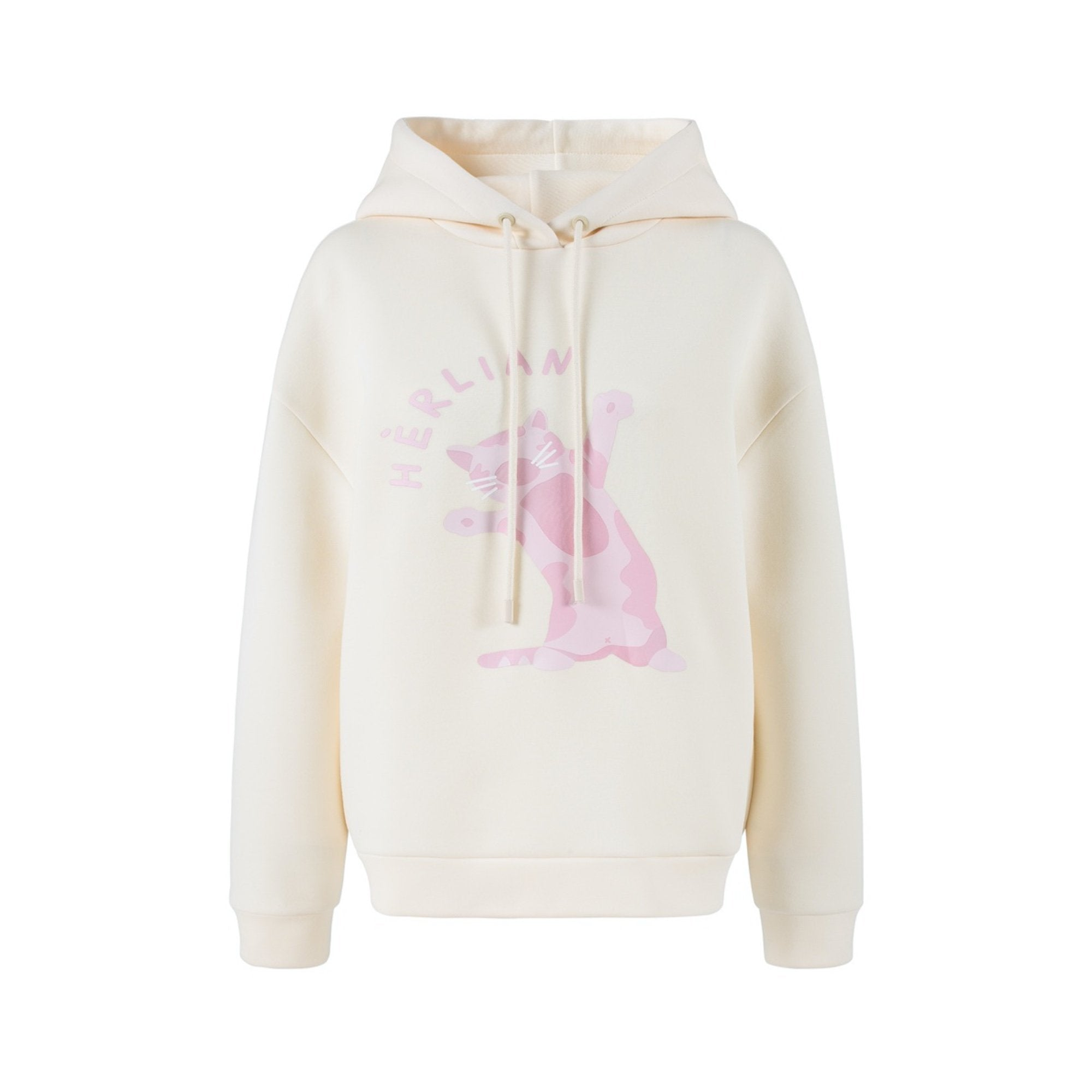 HERLIAN Cream Magical Kitty Hoodie | MADA IN CHINA
