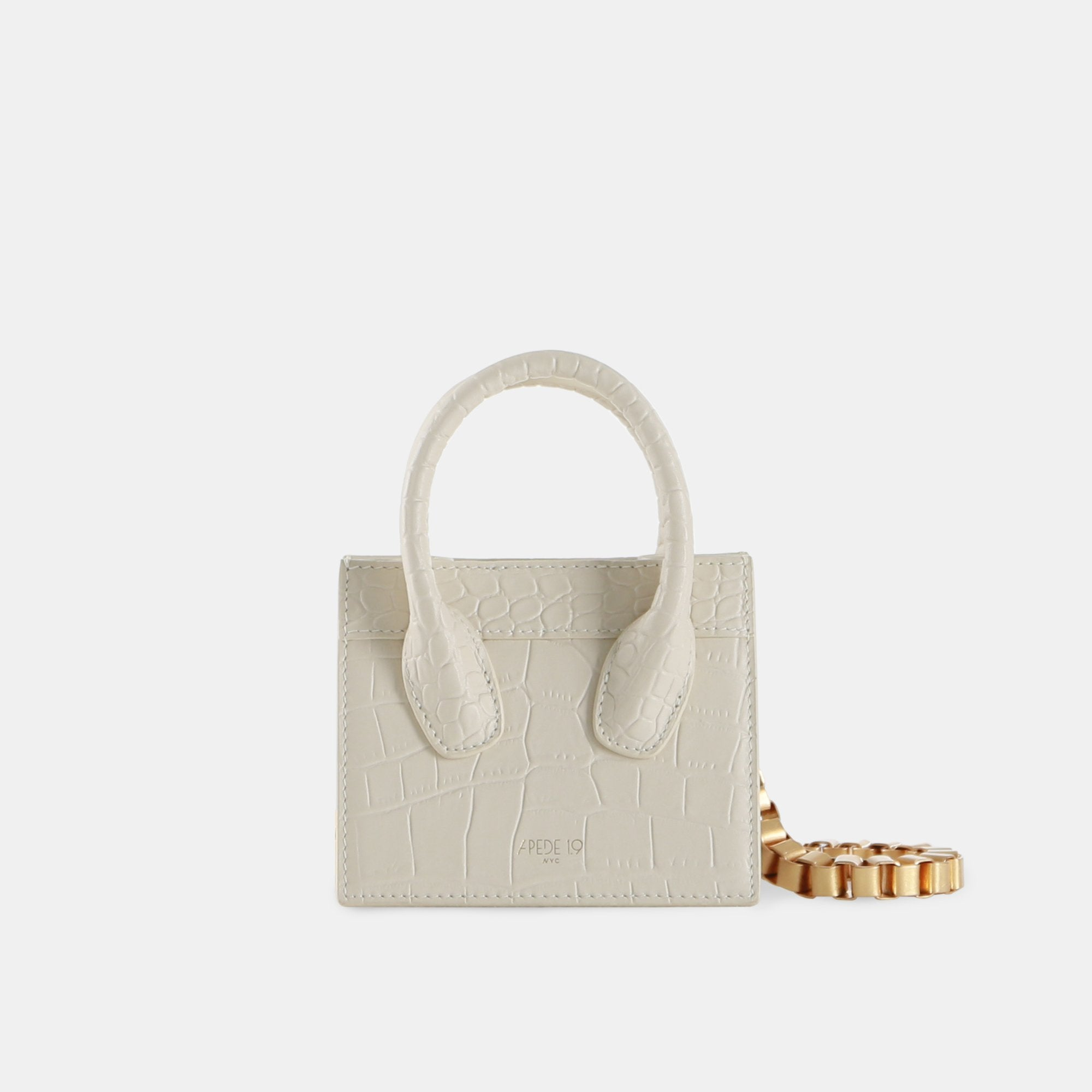 APEDE MOD Cream White Poker Face Mini Tote | MADA IN CHINA