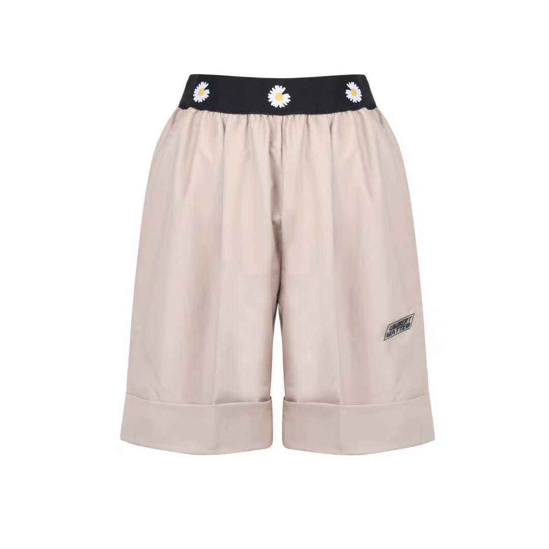 UMBERT MATTEO Daisy Shorts Khaki | MADA IN CHINA
