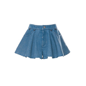 Laurence & Chico Denim Skort Light Blue | MADA IN CHINA