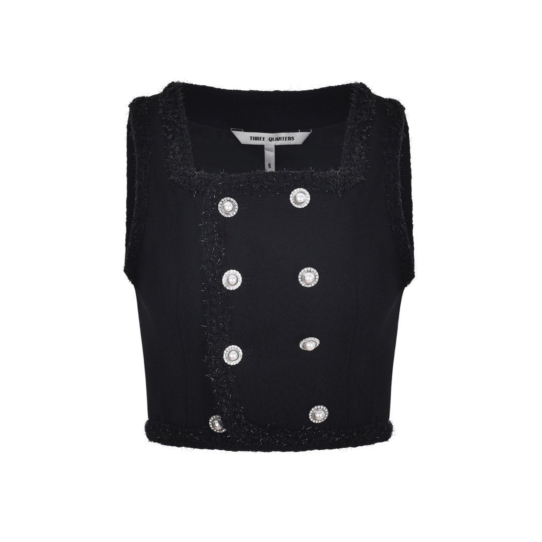 THREE QUARTERS Double Breasted Vest | MADA IN CHINA