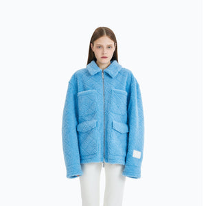 ANN ANDELMAN Double-Sided Wool Jacket Blue | MADA IN CHINA