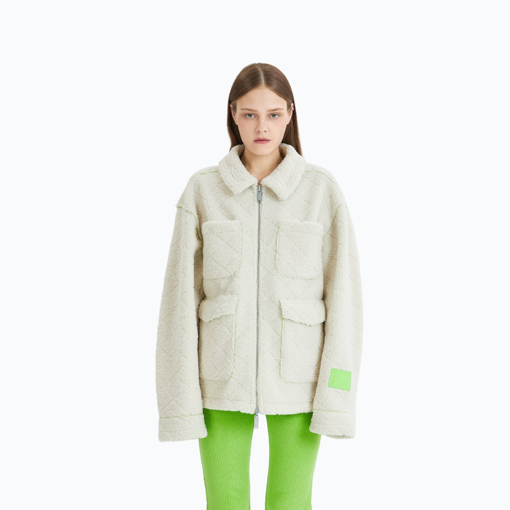 ANN ANDELMAN Double-Sided Wool Jacket White | MADA IN CHINA
