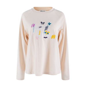 HERLIAN Embroidered Logo Long-Sleeve Tee | MADA IN CHINA