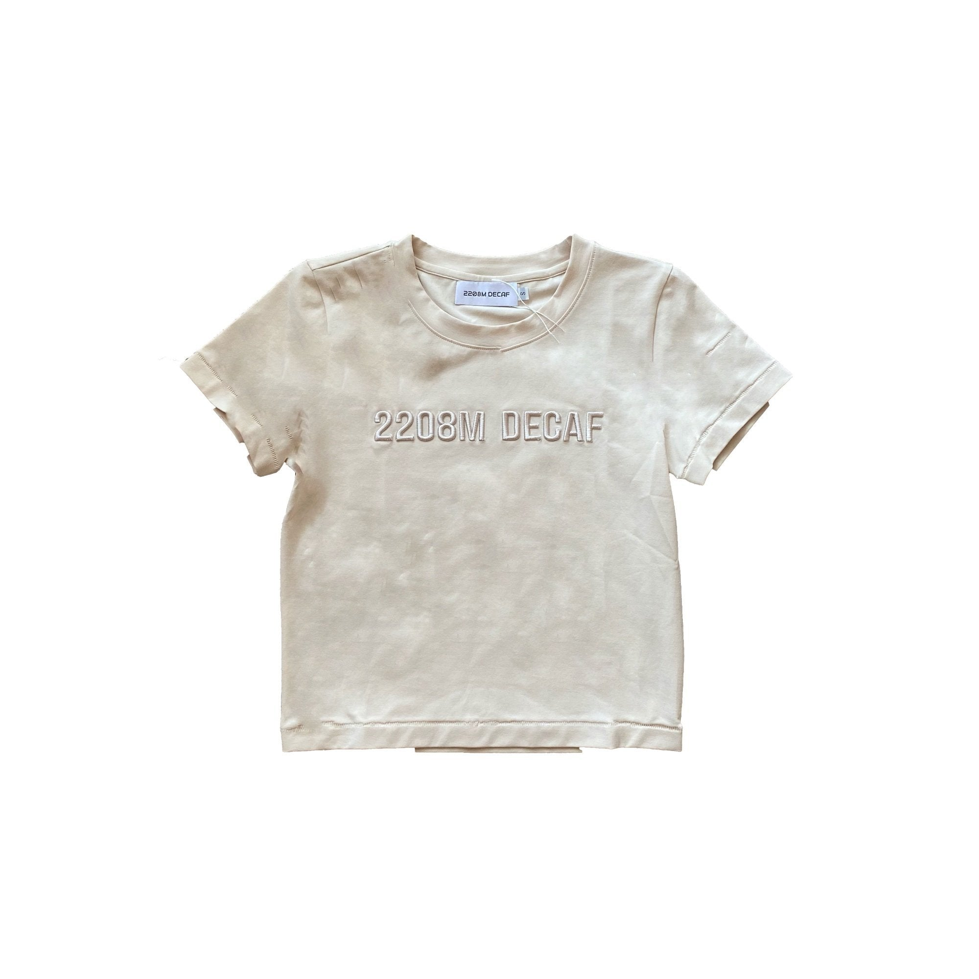 2208M DECAF Embroidered Logo Tee | MADA IN CHINA