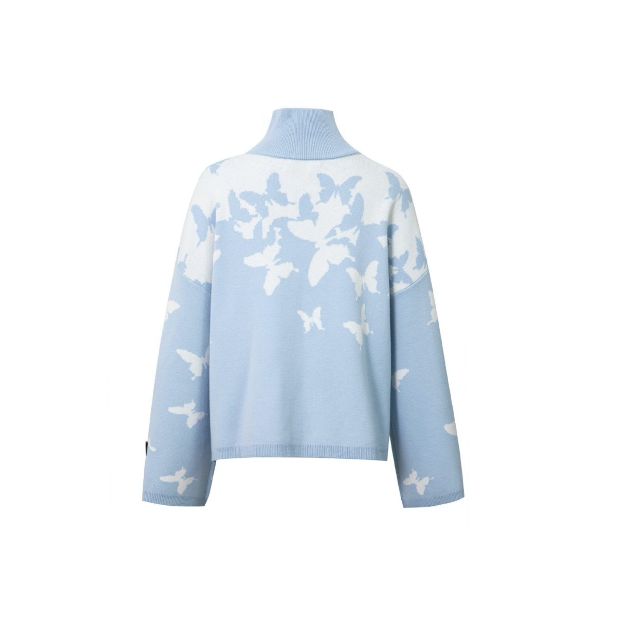 13 DE MARZO Extend Sleeve Butterfly Sweater Ice Water | MADA IN CHINA
