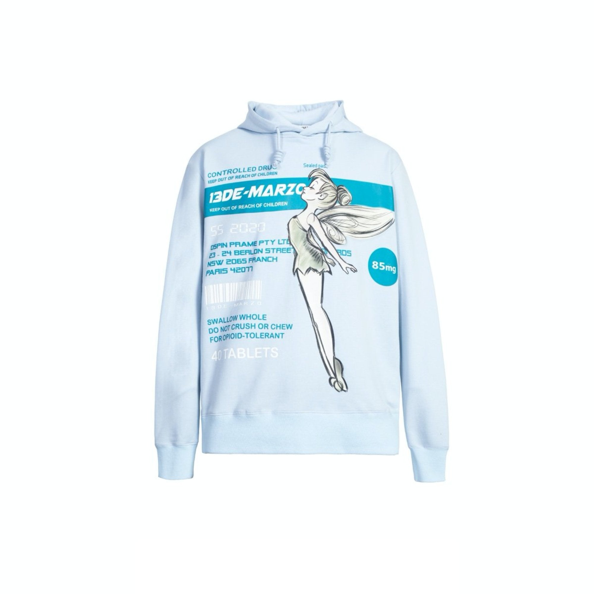 13 DE MARZO Fairy Instruction Hoodie Blue | MADA IN CHINA