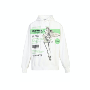 13 DE MARZO Fairy Instruction Hoodie White | MADA IN CHINA