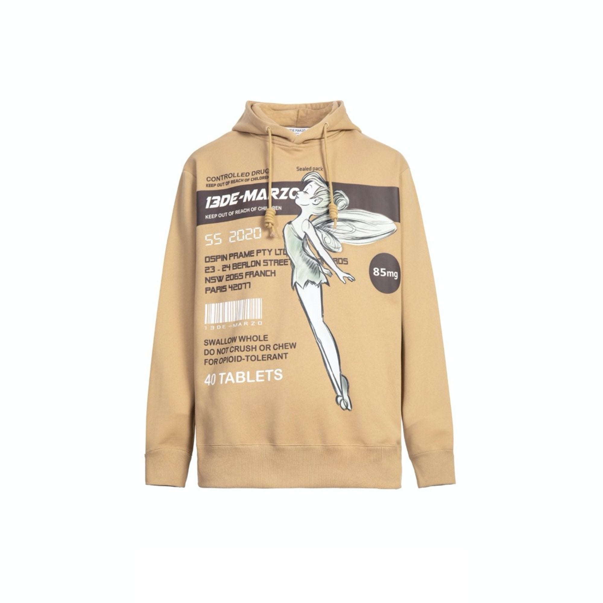 13 DE MARZO Fairy Instruction Hoodie Whitecap Gray | MADA IN CHINA