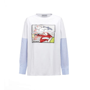 ANDREA MARTIN FightingMan Panelled Long-Sleeve Tee | MADA IN CHINA
