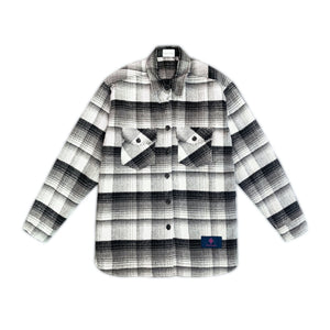 CHARLIE LUCIANO Flannel Shirt Black | MADA IN CHINA