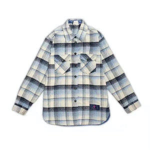 CHARLIE LUCIANO Flannel Shirt Blue | MADA IN CHINA