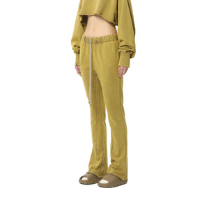 AIN'T SHY Flared Sweat Pants Dark Mustard | MADA IN CHINA
