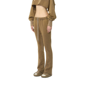 AIN'T SHY Flared Sweat Pants Khaki Brown | MADA IN CHINA