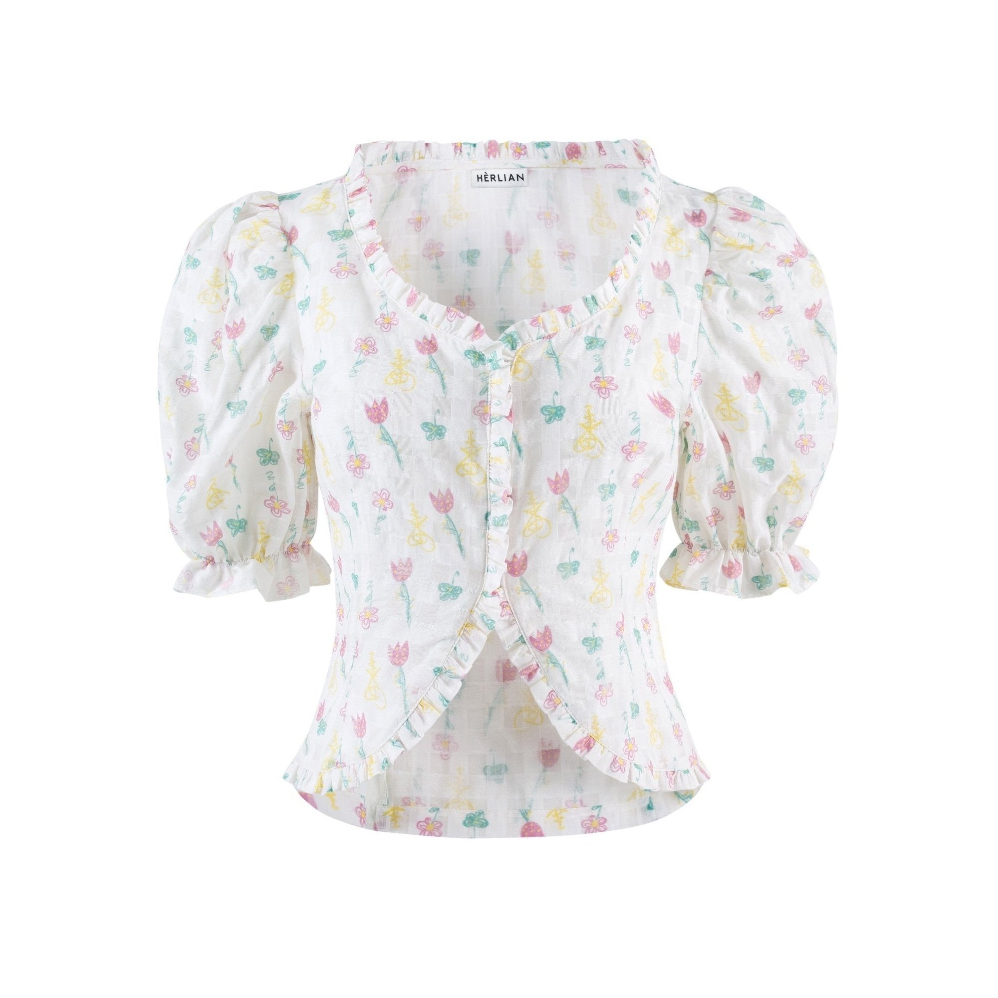 HERLIAN Floral Short Sleeve Shirt | MADA IN CHINA