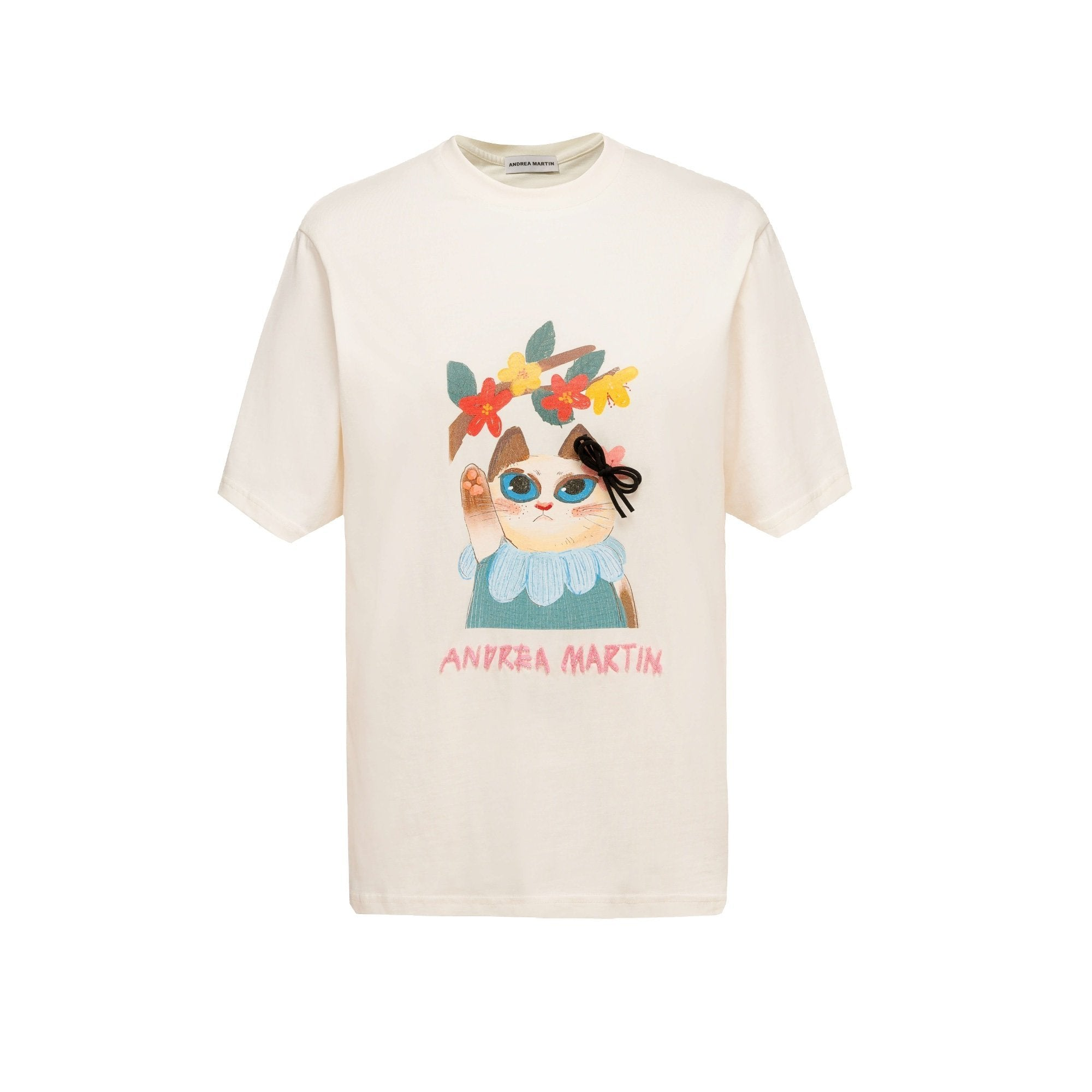 ANDREA MARTIN Flower Cat Tee | MADA IN CHINA