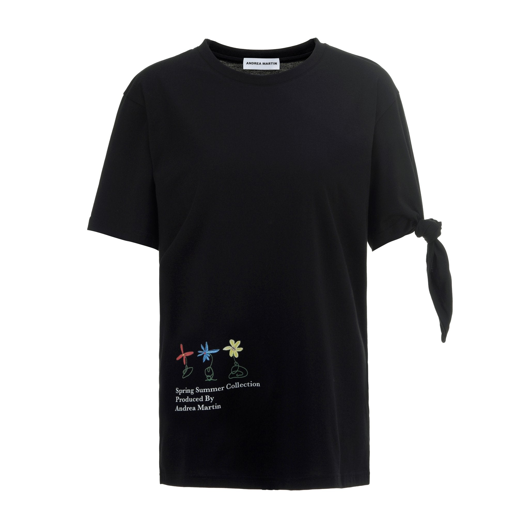 ANDREA MARTIN Flower Knotted Tee | MADA IN CHINA