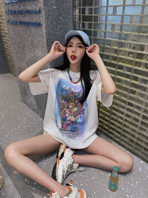 13 DE MARZO Game Of Thrones Sailor Moon Tee White | MADA IN CHINA