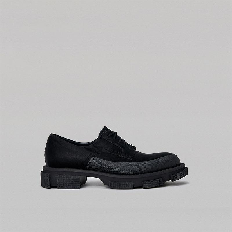 Both Gao Suede Derby Boots Black | MADA IN CHINA