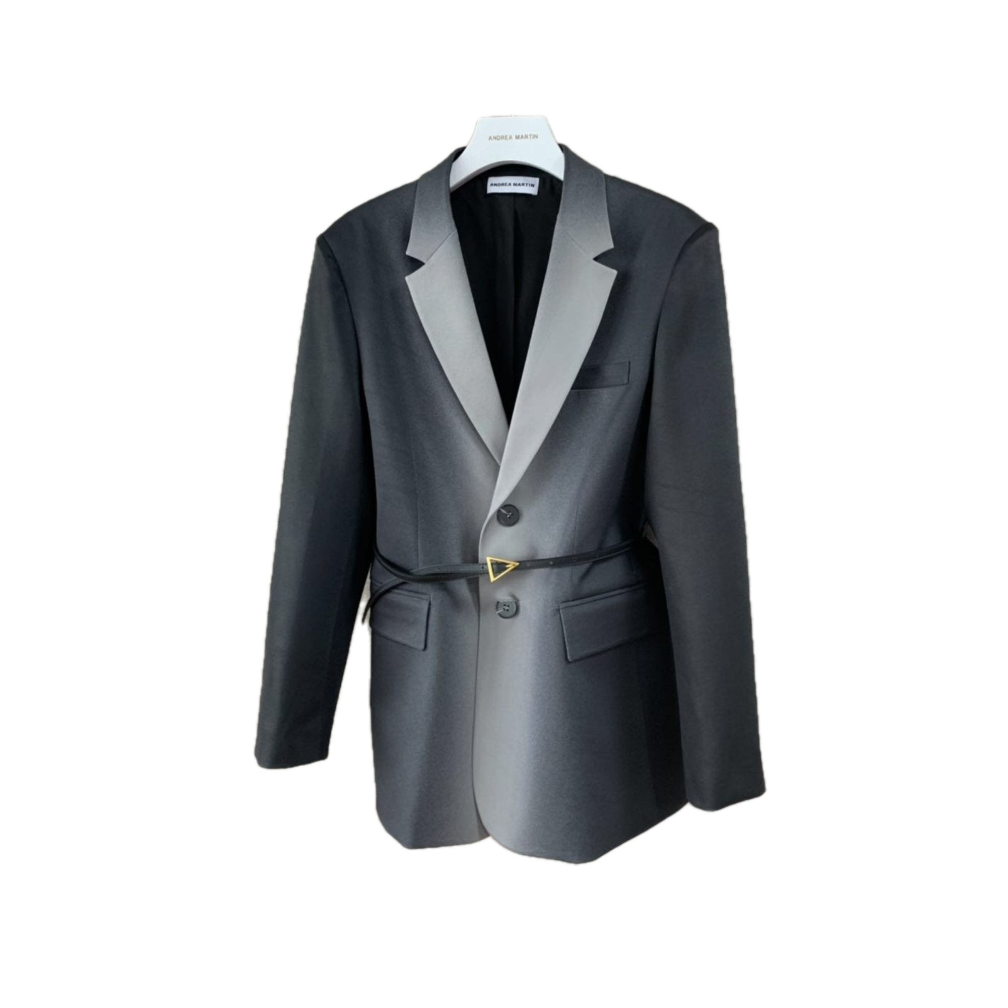 ANDREA MARTIN Gradient Belt Blazer Jacket | MADA IN CHINA
