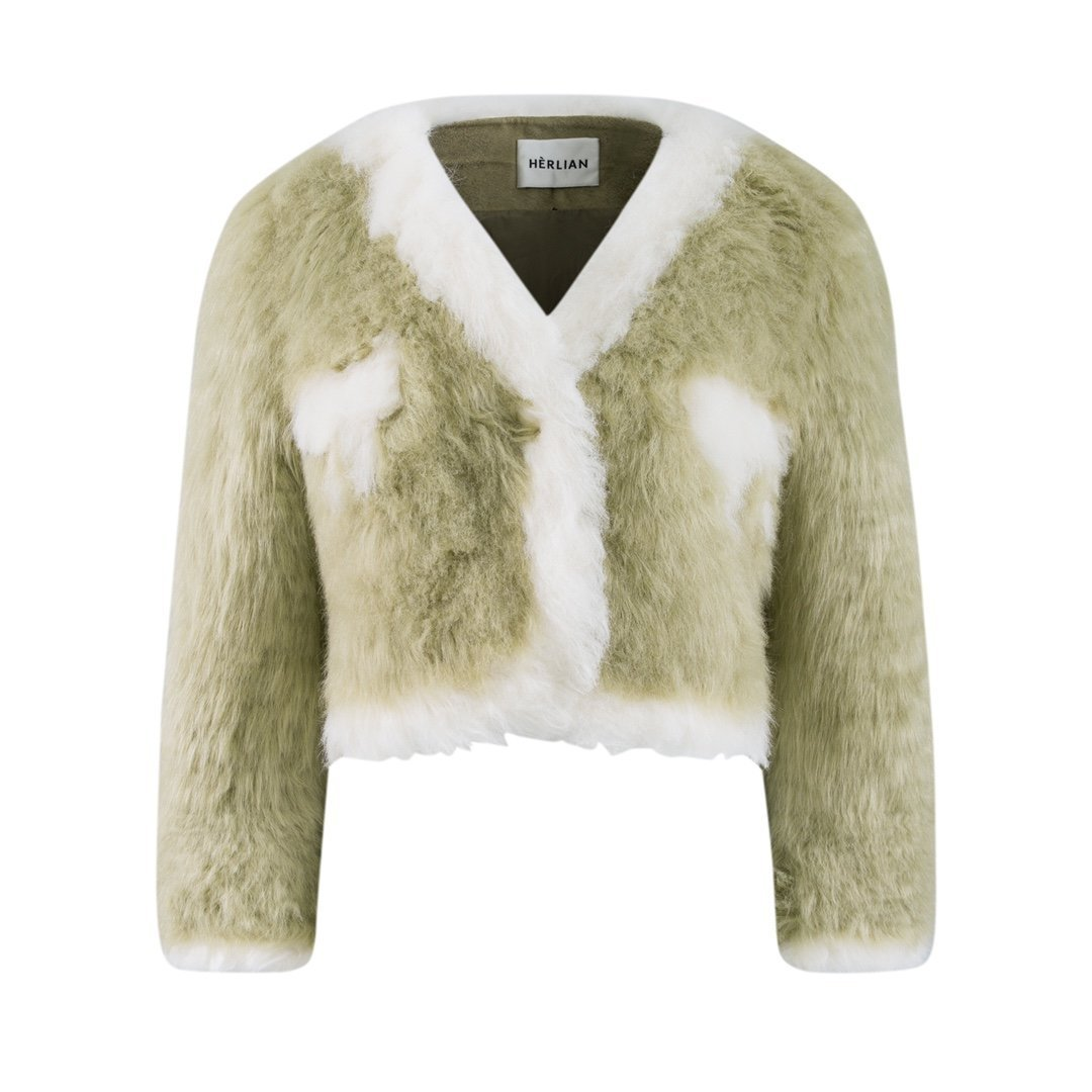 HERLIAN Green Fur Jacket | MADA IN CHINA