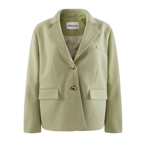 HERLIAN Green Micro Check Jacket | MADA IN CHINA