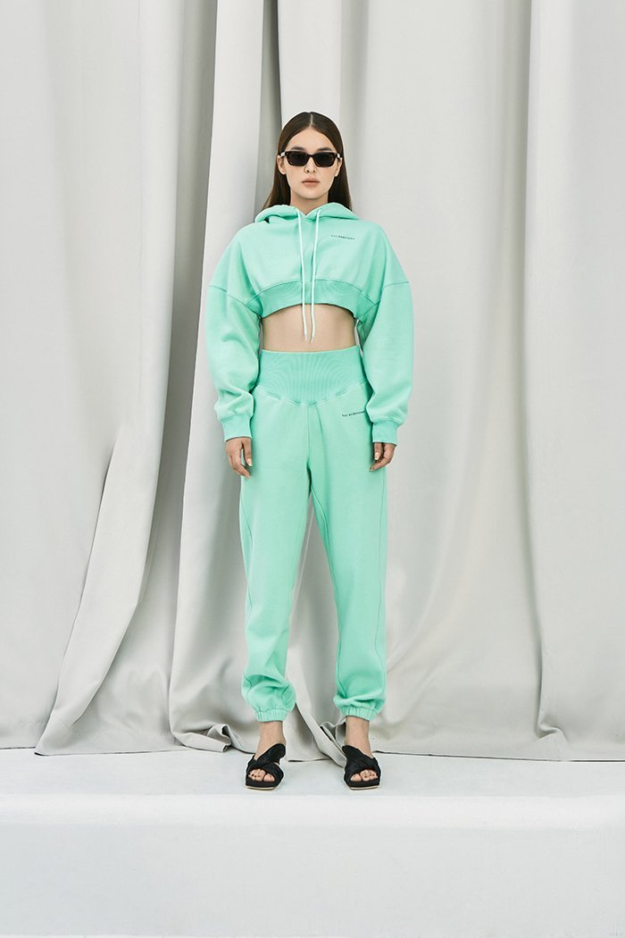 ANN ANDELMAN Green Sport Pant | MADA IN CHINA