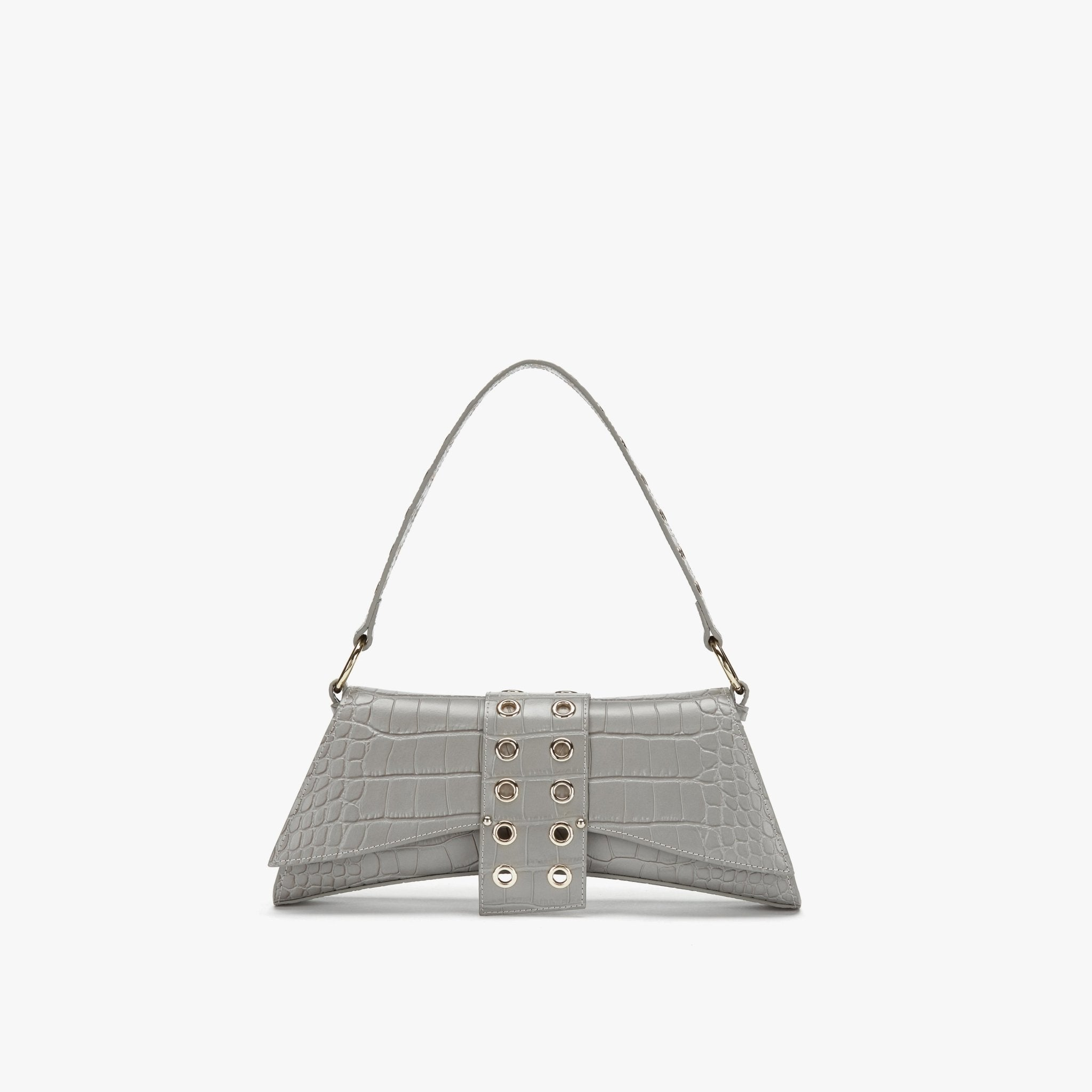 LOST IN ECHO Grey Barrett Metail Chain Bag Large | MADA IN CHINA