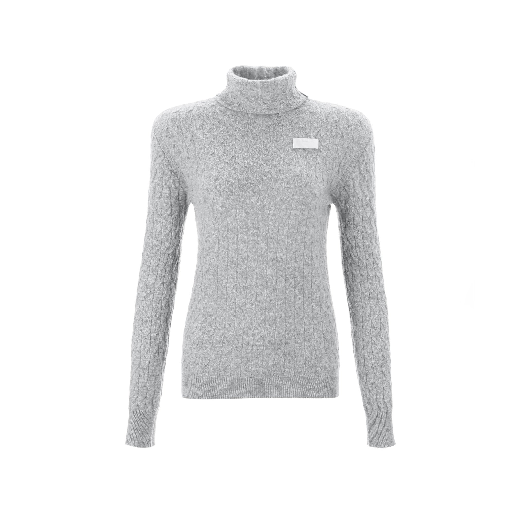 WARM AID Grey Cashmere Turtleneck Sweater | MADA IN CHINA
