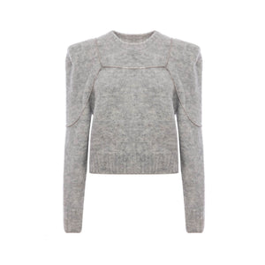 DIANA VEVINA Grey Chain Sweatshirt | MADA IN CHINA