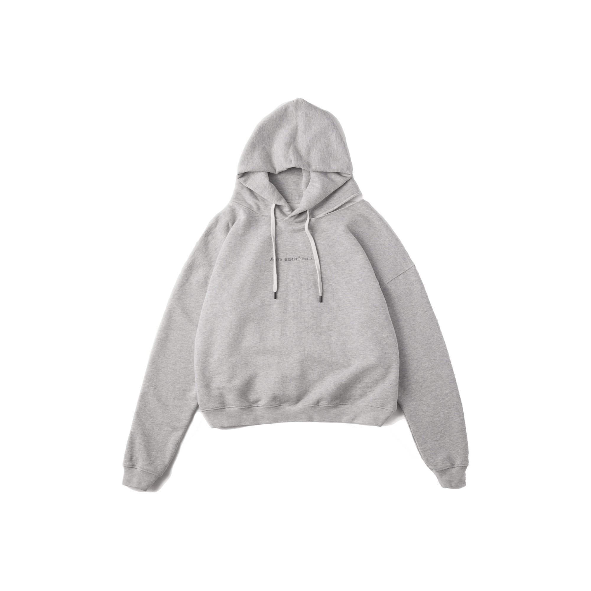 ANN ANDELMAN Grey Cut-Out Hoodie | MADA IN CHINA