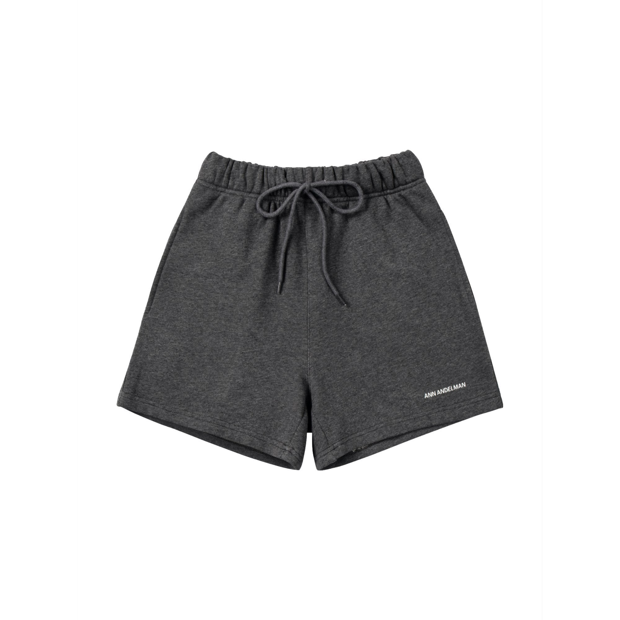 ANN ANDELMAN Grey Small Logo Shorts | MADA IN CHINA