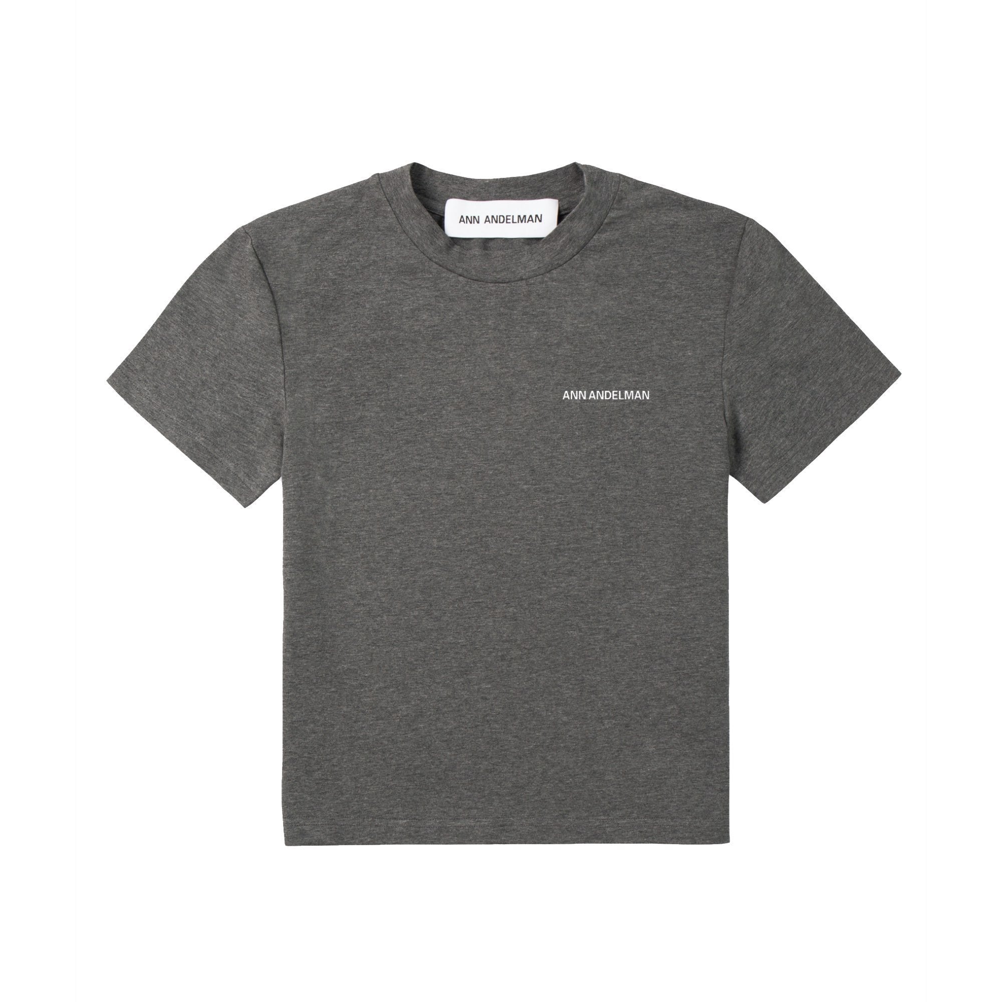 ANN ANDELMAN Grey Small Logo Tee | MADA IN CHINA