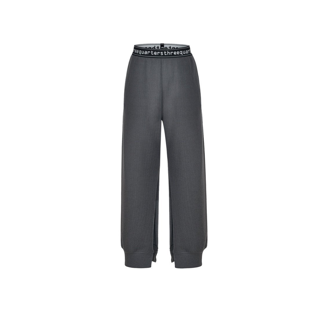 THREE QUARTERS Grey Split Pants | MADA IN CHINA