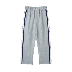 HERLIAN Grey Strip Logo Pant | MADA IN CHINA