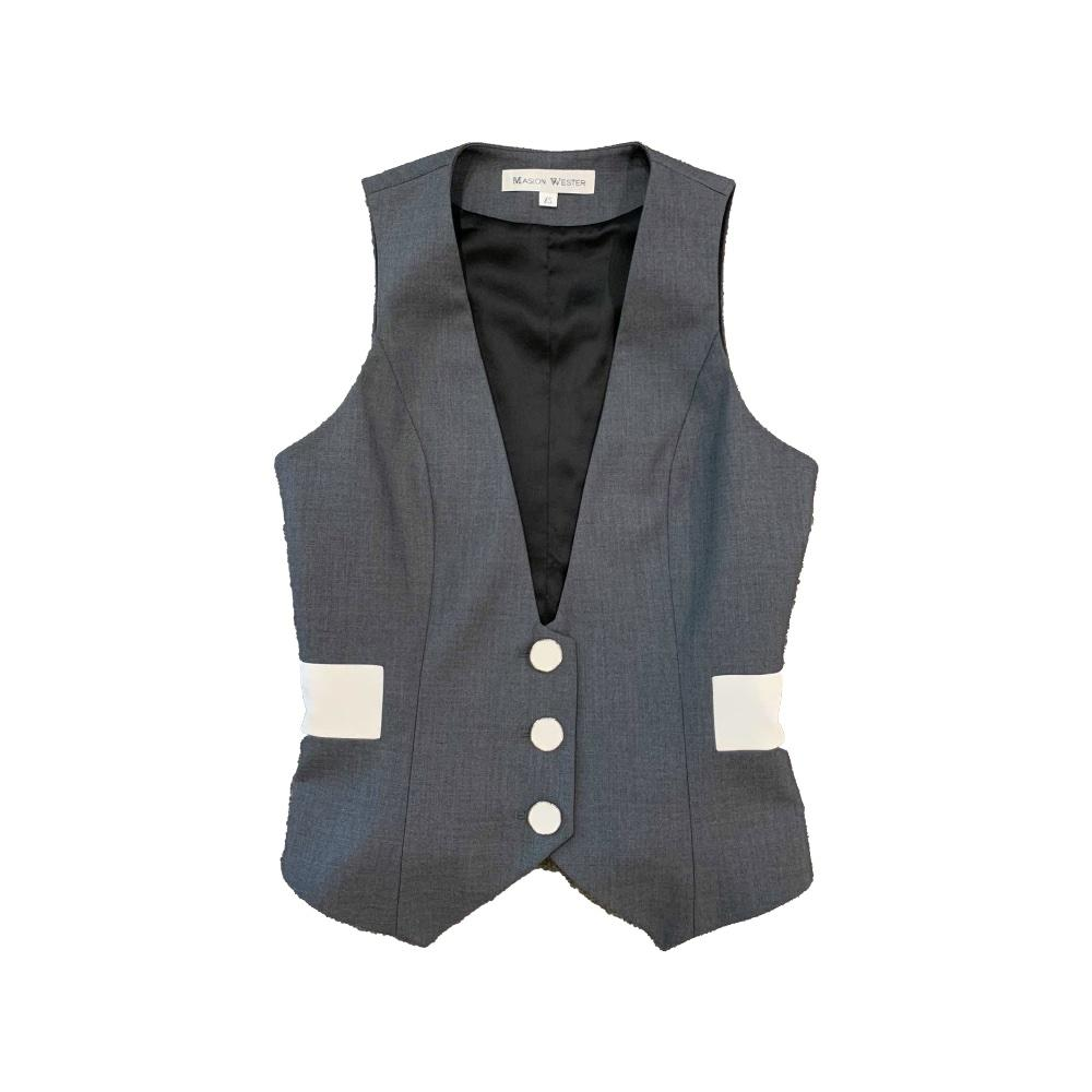 MASION.W Grey Suit Vest | MADA IN CHINA