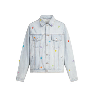 13 DE MARZO Gummy Bears Cover Denim Jacket Arctic Ice | MADA IN CHINA